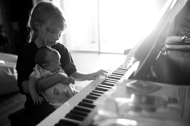Hope & Chance playing piano
