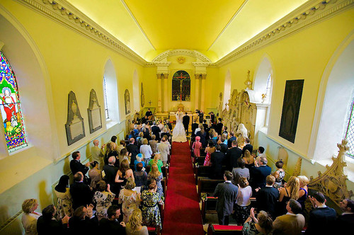 Christina and Tom's Wedding Blessing at the Hazlewood Castle Chapel (Photo by 1clickphotography.com)