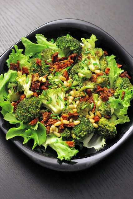 Broccoli, Sun Dried Tomatoes and Lettuce