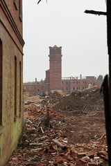 The end of Hellingly tower (  Voiceb[ ]x Photography  ) Tags: red building wall moody decay bricks watertower destroyed urbexing