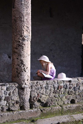 Drawing in the guidebook, outside the Villa of Mysteries
