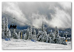 BLACK   FOREST (Mark B. Imagery) Tags: cloud mist snow canada weather bc britishcolumbia powder northamerica kelowna britshcolumbia pow bigwhite skiers bigwhiteskiresort blackforestchairlift
