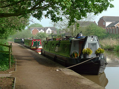 Boats under the trees (jrw080578) Tags: trees england boats canal cheshire middlewich narrowboats trentmerseycanal