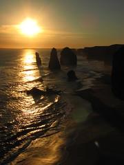 The Twelve Apostles (blue polaris) Tags: ocean road sunset sea cliff seascape beach port coast nationalpark scenery bass oz great australia victoria southern limestone vic 12 campbell lanscape strait bluff twelve apostles