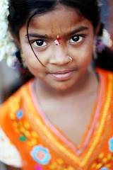 Hampi, Karnataka (India) - Little pilgrim (streetcorner) Tags: portrait india girl temple child indian prayer religion holy sacred tradition karnataka hinduism hampi bindi littel anawesomeshot earthasia