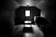 (eeviko) Tags: light shadow bw white black window grey blackwhite wooden furniture d room puu valo huonekalut varjo ikkuna huone mustavalkoinen 2442011