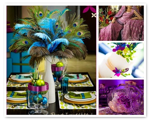 Peacock Purple Lime Green Moodboard Peacock lime green wedding