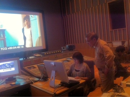Sound mixing session continues for LAST FRAGMENTS OF WINTER