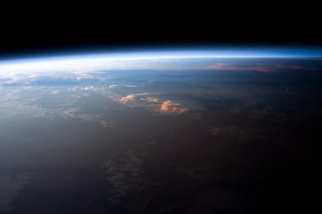 Sunset over Bolivia