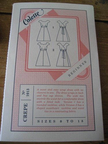 Colette wrap dress pattern for my wedding dress