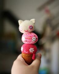 Ice Cream Monster (Radical She Tarot) Tags: monster cone crochet plush icecream amigurumi