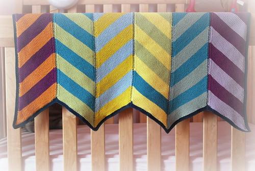 Olivia baby blanket - odd stripe!