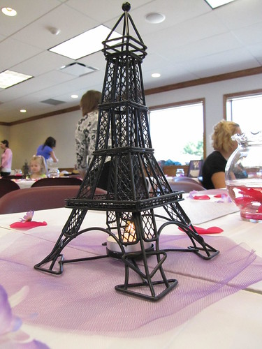 Eiffel Towers on each table