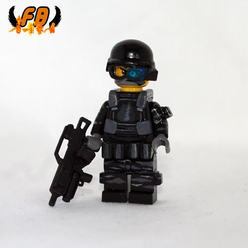 Custom minifig Modern Warrior - Special Ops