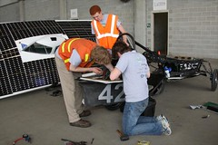 University students work on their solar powered car (indianapolismotorspeedway.com) Tags: camera speed canon mark length mode rating eos1d ims indianapolismotorspeedway 281 5focal iiiexposure 5610iso 320metering 81000fnumber emergingtechday