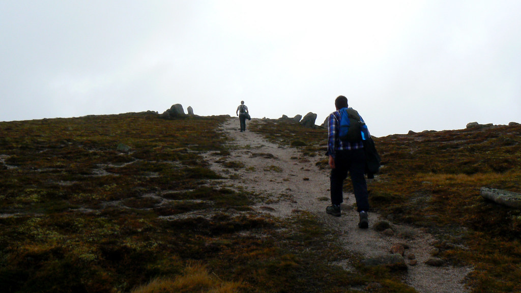 Final path to the summit of Carn a' Mhaim