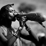 Maasai warrior after cow blood ceremony - Kenya