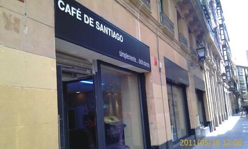 Entrada Cafe Santiago Bilbao by LaVisitaComunicacion