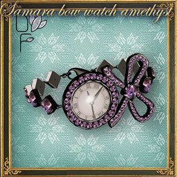SAMARA Bow watch amethyst