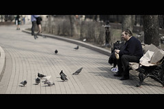 Share it (Maxim Chechin) Tags: street man canon bread feeding russia moscow pigeon candid 1d clochard markiv canon1dmarkiv