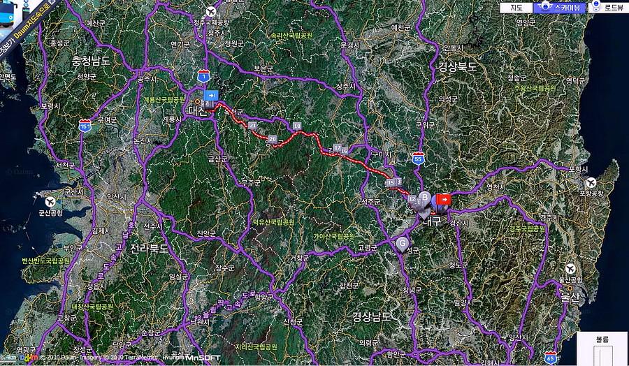 Map(Daegu-Daejeon)