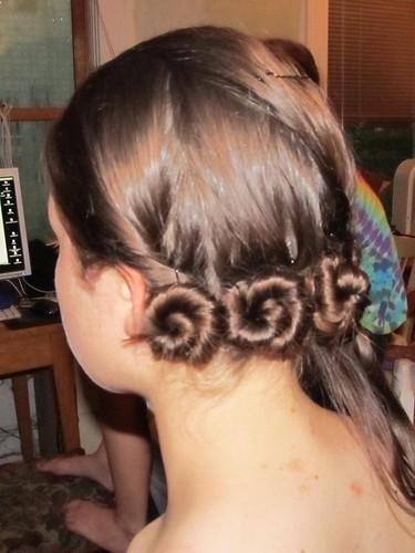 little snails of hair