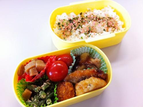 今日のお弁当 No.176 – 鮭青菜