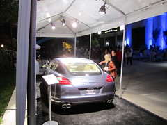 Beverly Hills' Porsche Panamera Turbo on the Plaza at the Greek Theatre (PorscheLosAngeles) Tags: tower greek war power display theatre hills turbo porsche beverly concerts sponsor panamera