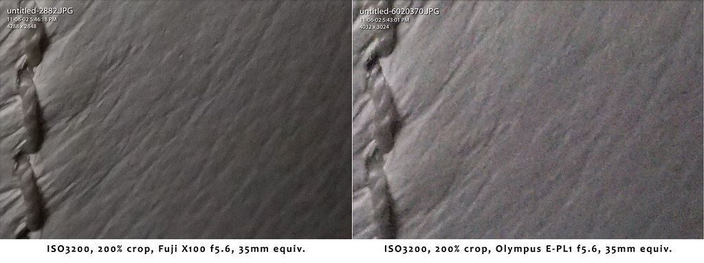 ISO3200 Comparison - Grain vs. Noise