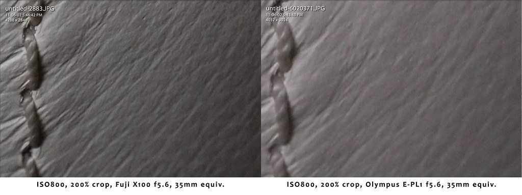 ISO800 Comparison - Grain vs. Noise