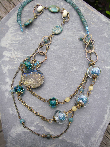 Baja Sand and Sky Necklace