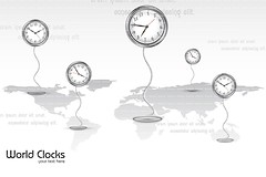 Clocks standing on World Map (Vectomart) Tags: world travel vacation holiday abstract motion clock tourism nature illustration speed design movement globe technology graphic symbol time map earth background object space culture progress icon business international hour planet second destination geography concept reminder universe countdown timer success deadline vector alert appointment global minute accuracy coordination editable urgency