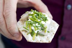 herring with cream on crackers