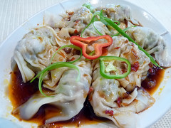 Dumplings with Black vinegar sauce at Zong (karlaredor) Tags: chinesefood zong