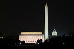 The Most Dramatic View of DC at Night (WilliamMarlow) Tags: longexposure night arlington virginia dc washington nikon uscapitol cc va creativecommons lincolnmemorial dcist monuments washingtonmonument memorials 30secondexposure dcnight d7000 nikond7000 ringexcellence