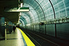 Green Line (a l e x . k) Tags: light green film station boston subway pentax north platform rail line lx fa43mmf19