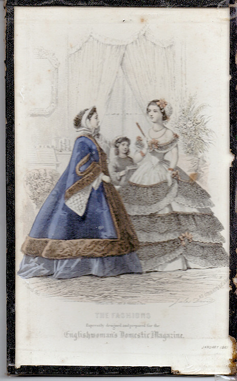 January 1861 Fashions from English Domestic Magazine
