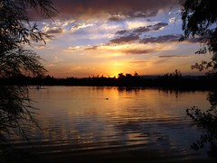 Day's First Rays (Ph0tomas) Tags: trees sunset sky lake newmexico water clouds sunrise reflections river lumix pond wideangle g1 f4 714 vario landofenchantment mygearandme mygearandmepremium ph0tomas