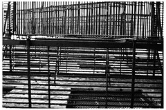 Already Waited Too Long (swanksalot) Tags: blackandwhite bw chicago perspective lookingup fireescape westloop agfascala swanksalot sethanderson