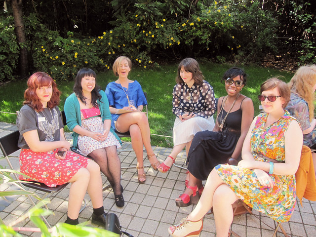 bloggers in the garden