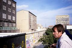 Berlin18-BerlinWall-ViewPlatform-Sep85 (ArgyleMJH) Tags: berlin 1985 berlinwall gdr ddr checkpointcharliie germany coldwar