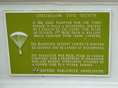 Photo of John Hampton green plaque