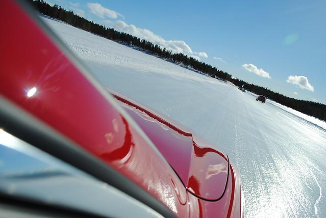 Audi S5 Sportback on iceroad