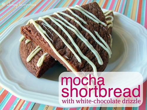 Mocha Shortbread With White-Chocolate Drizzle