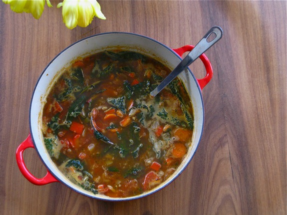 tuscan white bean kale soup 006