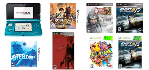 New video games releases for week of March 27, 2011 (US)