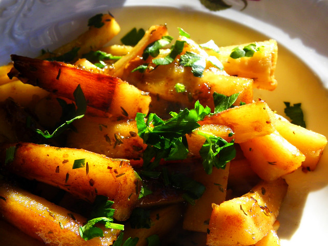 Maple Glazed Parsnips