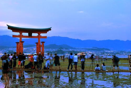 Otorii (Gate) at Itsukushima Shrine, Japan by Sue Ann Simon