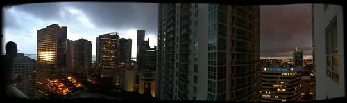 a storm rolls in to Miami