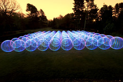 The Century of Light Orbs ([inFocus]) Tags: world park longexposure light gardens night century canon ball dark painting long exposure orb sphere pollution 7d record after 100 junkie 1022mm multi whirlow